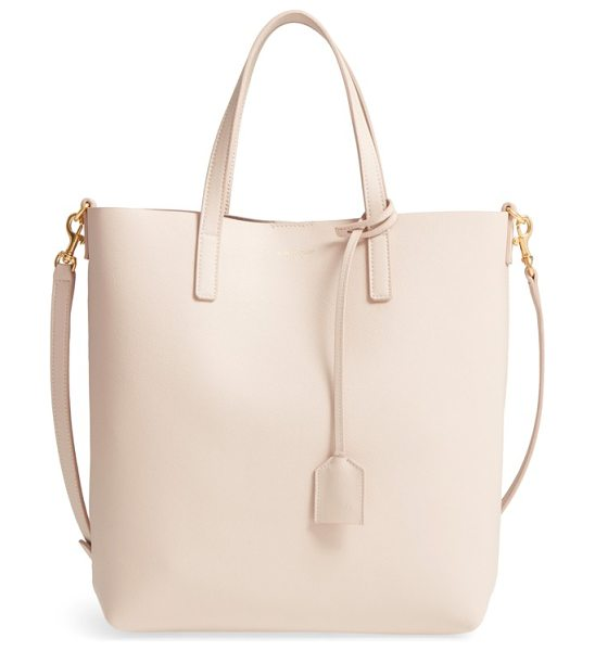 Saint Laurent toy shopping leather tote in pink - Supple lambskin leather  highlighted with a gilded 79547cc54a325