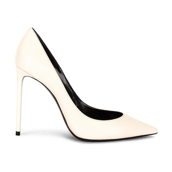 Saint Laurent zoe pumps in pearl