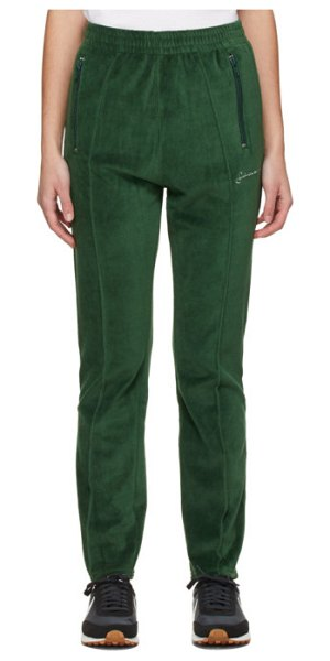 SAINTWOODS velour lounge pants in green