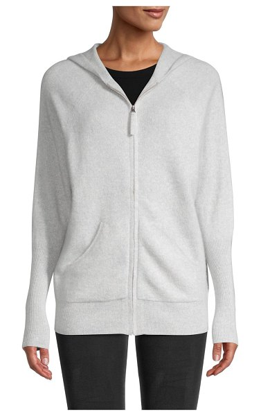 Saks Fifth Avenue Cashmere Knit Hoodie in grey mist