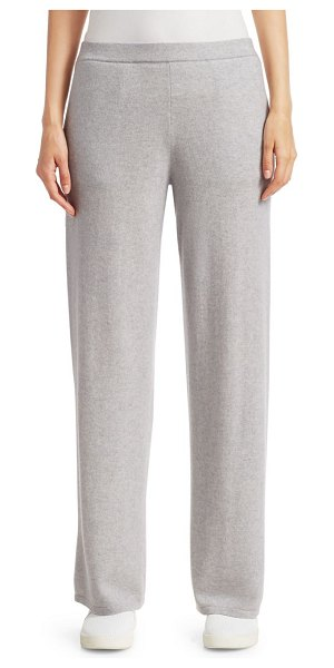 Saks Fifth Avenue COLLECTION Cashmere Wide Leg Pant in dove