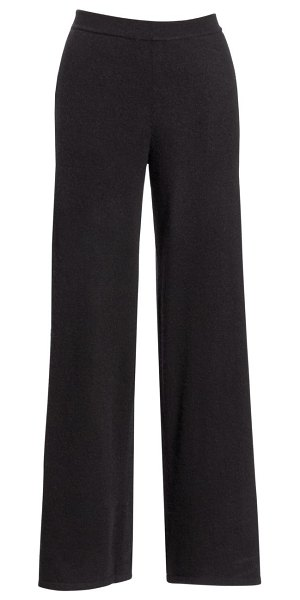 Saks Fifth Avenue COLLECTION Cashmere Wide Leg Pant in ebony