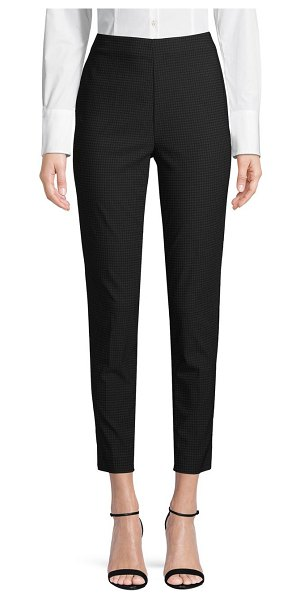 Saks Fifth Avenue Houndstooth Flat-Front Pants in black grey