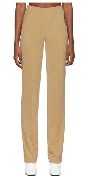 SAKS POTTS beige lissi trousers in nude