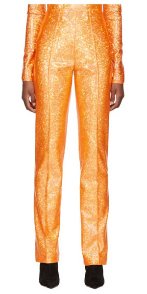 SAKS POTTS shimmer lissi trousers in orange