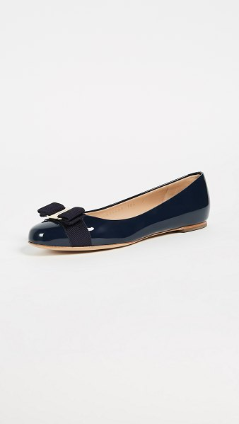 Salvatore Ferragamo varina flats in oxford blue