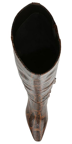 Sam Edelman davin knee high boot in brown multi snake print