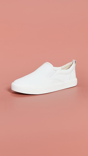 Sam Edelman edna slip on sneakers in white
