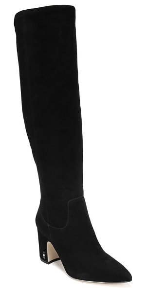 Sam Edelman hai knee high boot in black suede