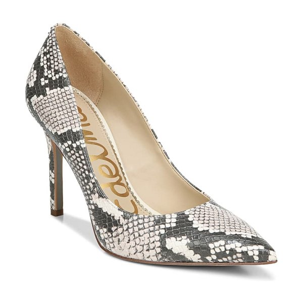 Sam Edelman hazel pointed toe pump in ivory multi leather