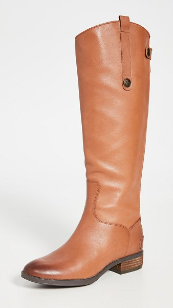 Sam Edelman penny riding boots in whiskey