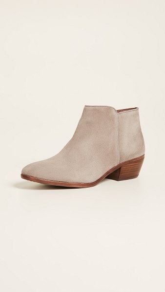 Sam Edelman petty suede booties in putty