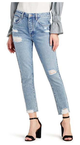 Sam Edelman the stiletto distressed high waist ankle straight leg jeans in koehohe