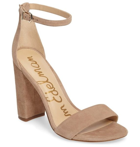 Sam Edelman yaro ankle strap sandal in oatmeal suede