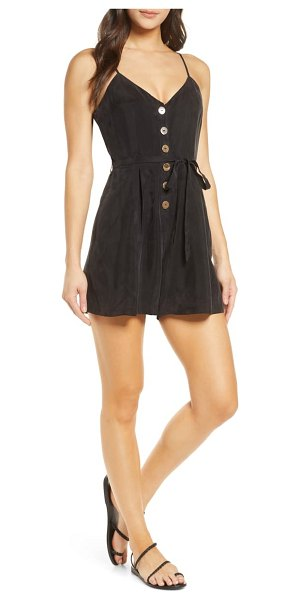 SANCIA the elin button front romper in onyx black