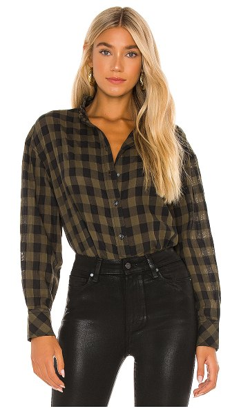 Sanctuary all about the ruffle shirt in tonal check