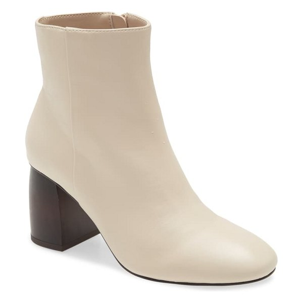 Sanctuary bossa nova leather boot in bone nappa leather