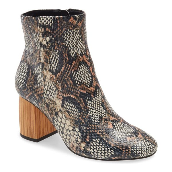 Sanctuary bossa nova leather boot in natural multi leather