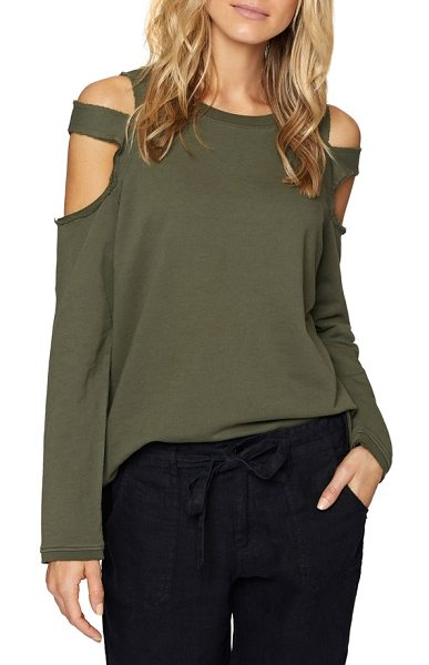 SANCTUARY park slope cold shoulder sweatshirt - Cozy with a sexy twist: a slouchy pullover features dual...