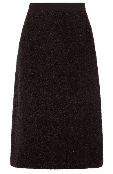 Sara Lanzi a-line tinsel skirt in black