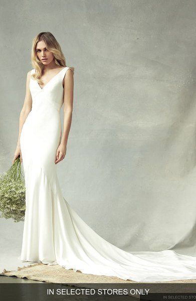Savannah Miller annabelle trumpet wedding dress