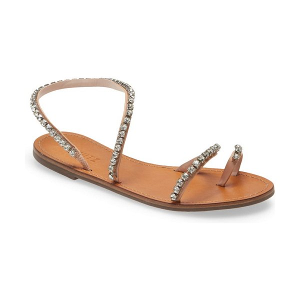 Schutz azalea embellished sandal in honey beige leather