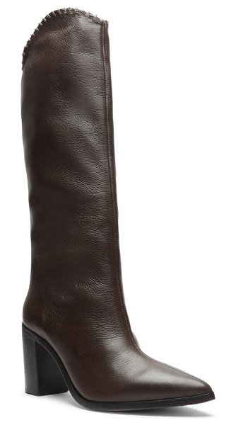 Schutz valy knee high boot in umber leather