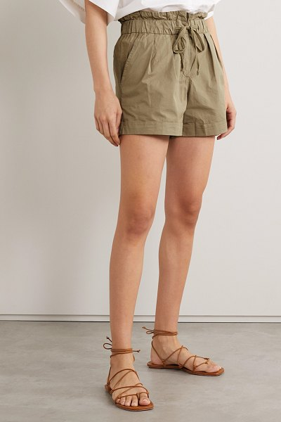 Sea giselle stretch-cotton shorts in beige