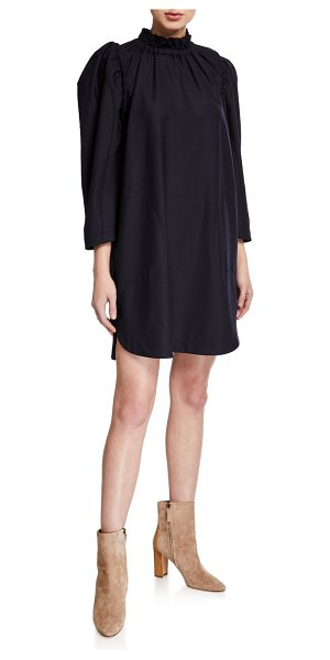 Sea Hayes 3/4-Sleeve Wool Tunic in navy