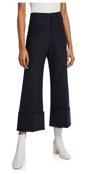 Sea Hayes High-Rise Cuffed Pants in navy