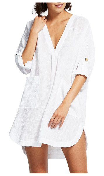Seafolly essential cover-up in white