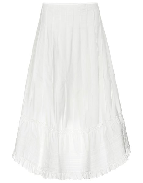 See By Chloe cotton midi skirt in white