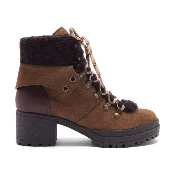 See By Chloe crosta suede hiking boots in brown