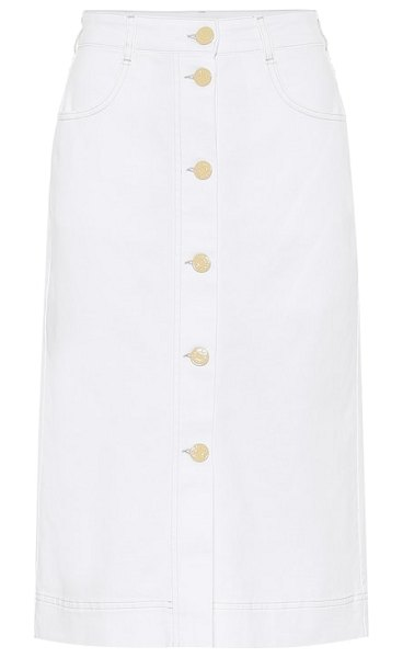 See By Chloe denim midi skirt in white
