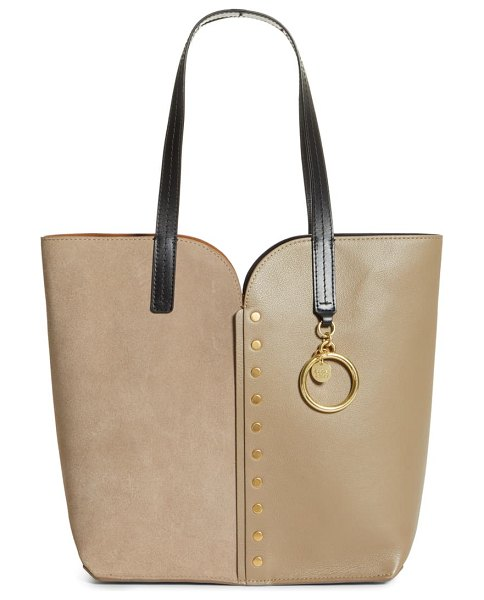 See By Chloe gaia leather tote in motty grey