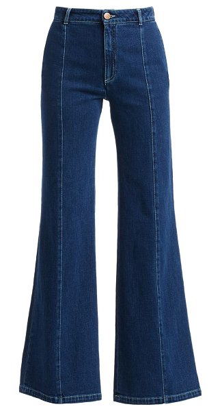 See By Chloe high-waist wide leg jeans in ink marine