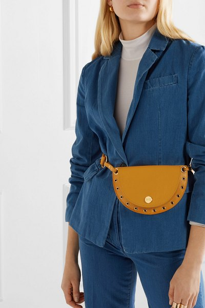 See By Chloe kriss embellished textured-leather belt bag in saffron - See By Chloé's 'Kriss' belt bag is made from...