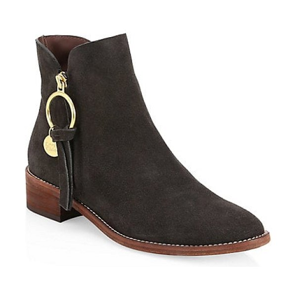 See By Chloe louise suede ankle boots in charcoal