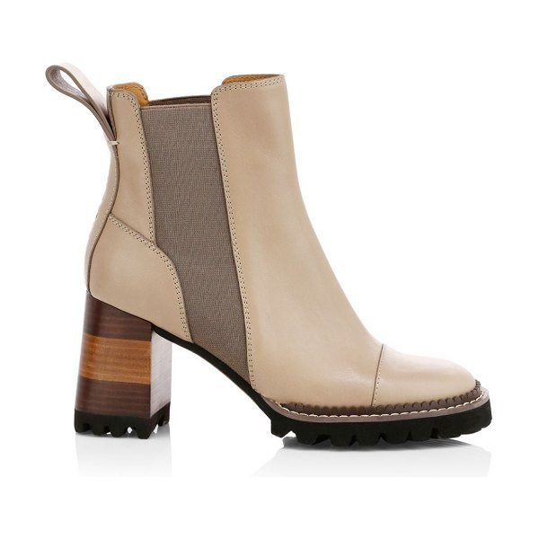 See By Chloe lug sole chelsea boots in taupe