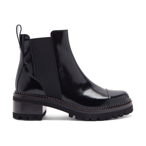 See By Chloe luxor chunky-sole leather chelsea boots in black