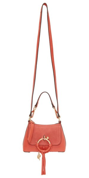 See By Chloe pink mini joan bag in 6al pink - Grained leather shoulder bag in pink. Tonal leather...