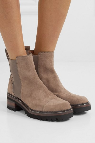 See By Chloe suede chelsea boots in taupe