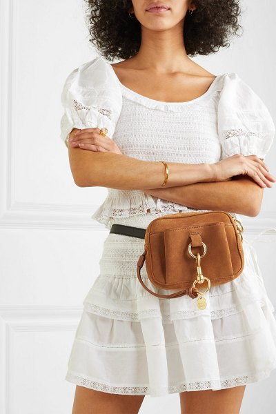 See By Chloe tony textured-leather and suede belt bag in tan
