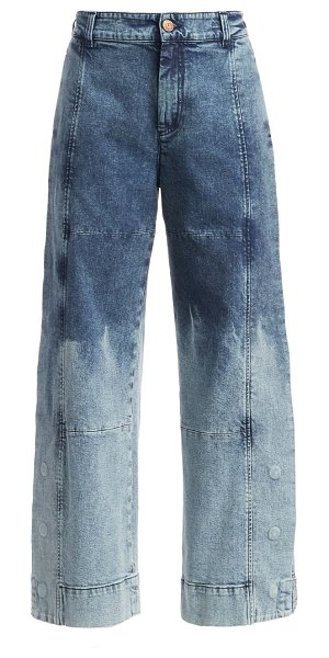 See By Chloe two-tone acid wash wide leg jeans in boyish blue