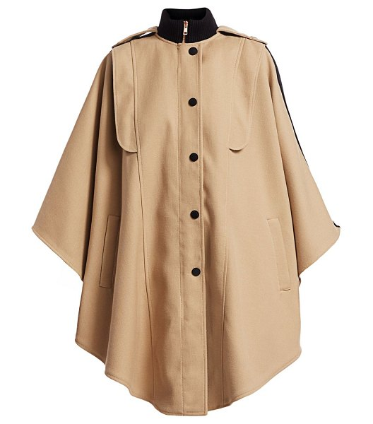 See By Chloe wool-blend cape trench coat in brown