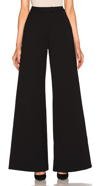 self-portrait Ariana Pants in black - 95% poly 5% cotton.  Made in China.  Hand wash.  Hook...