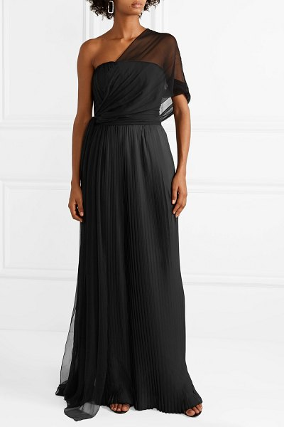 SemSem one-shoulder draped silk-crepon top in black - EXCLUSIVE AT NET-A-PORTER. SemSem's eveningwear has...
