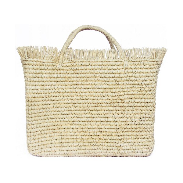 Sensi Studio Canasta Mexicana Baby Woven Straw Tote Bag in natural