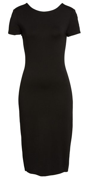 SENTIMENTAL NY ponte sheath dress in black