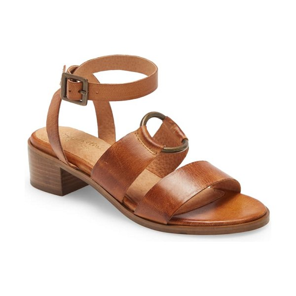 Seychelles exhilarating strappy sandal in cognac leather